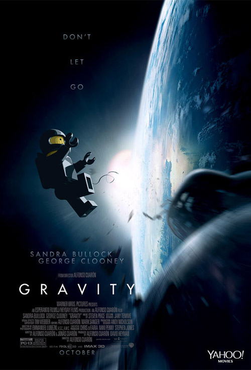 Gravity. Old Red Jalopy. LEGO Posters.