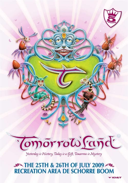 Cartel Tomorrowland 2009. Festival poster.