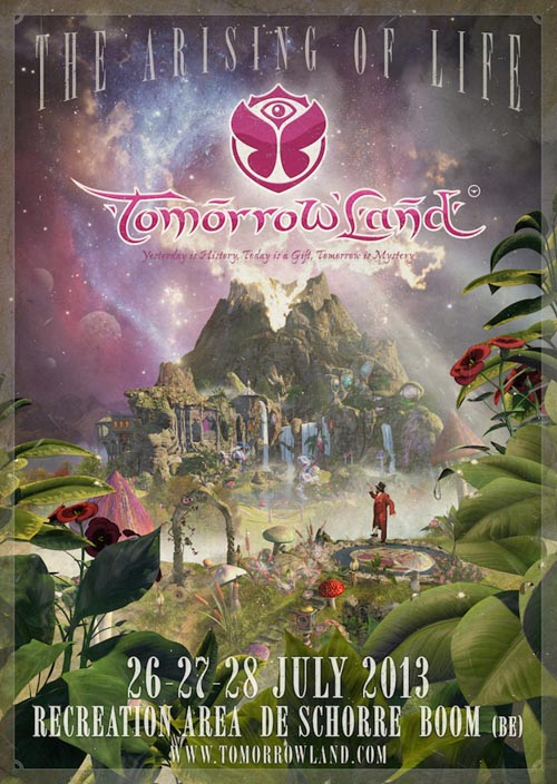 Cartel Tomorrowland 2013. Festival poster.
