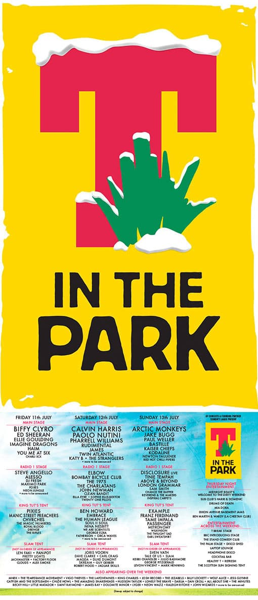 T in the Park 2014 Poster