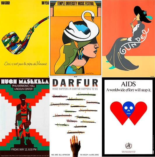 Carteles, Posters. Milton Glaser.