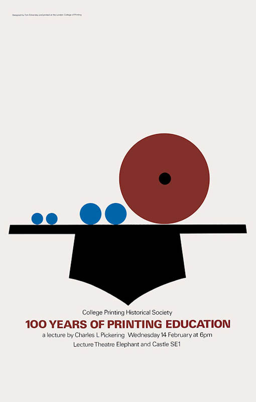 100 years of printing education (1985). Tom Eckersley