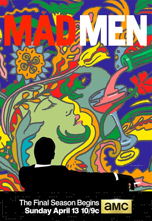 Milton Glaser. Mad Men Poster.