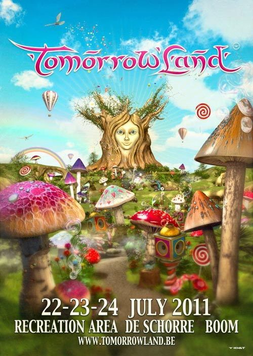 Cartel Tomorrowland 2011. Festival poster.