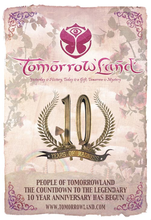Cartel Tomorrowland 2014. Festival poster.
