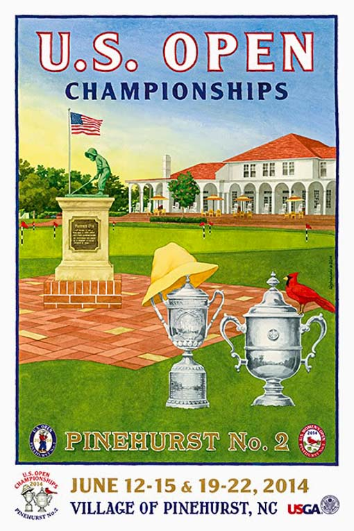 Cartel US Open Golf 2014. Cartel publicitario.
