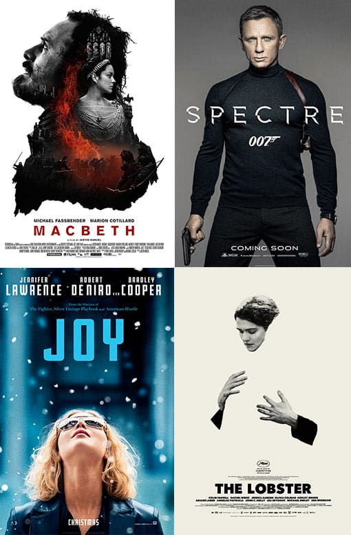 Macbeth / Spectre 007 / Joy / The Lobster