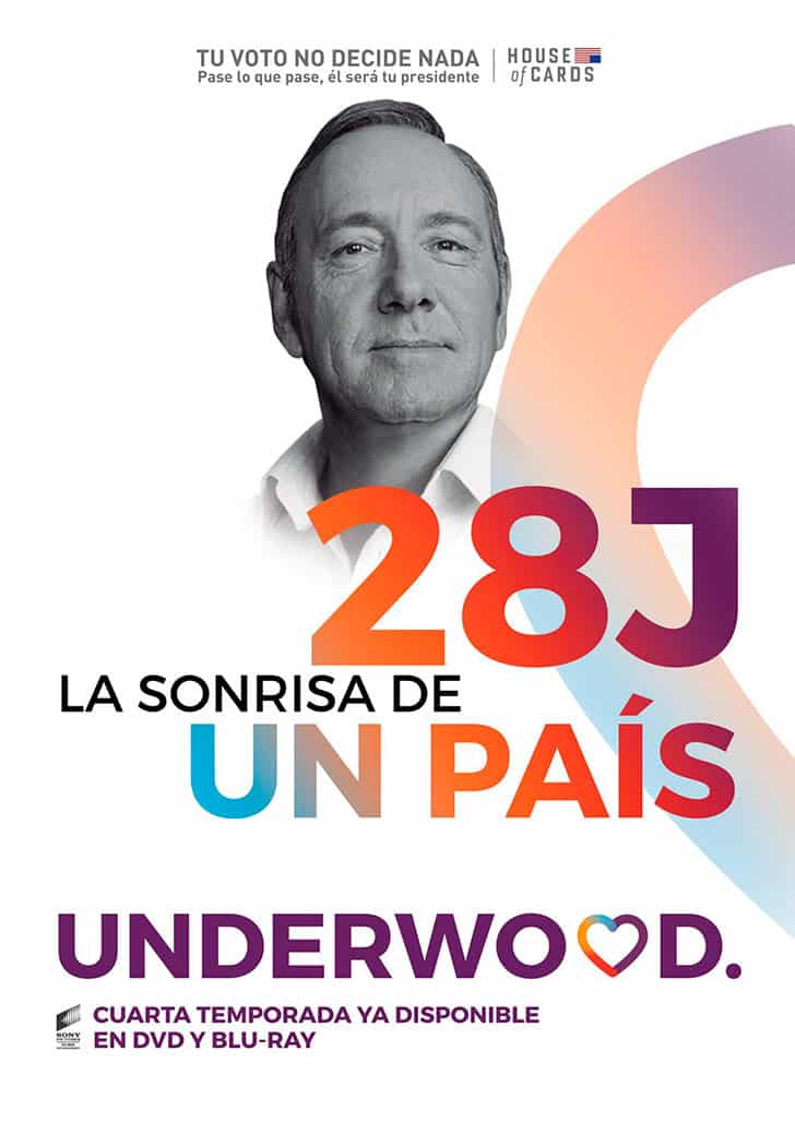 Underwood, House of Cards. Unidos Podemos.