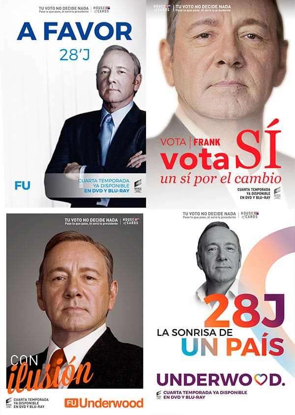 La campaña electoral de Frank Underwood 'House of Cards'