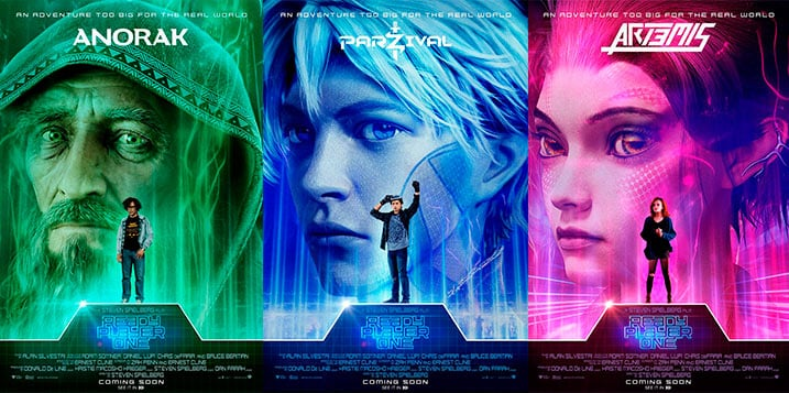 Carteles personajes Ready Player One.