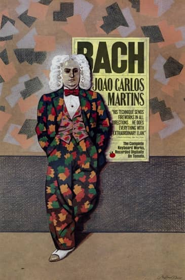 1989 bach in a fugueing suit milton glaser