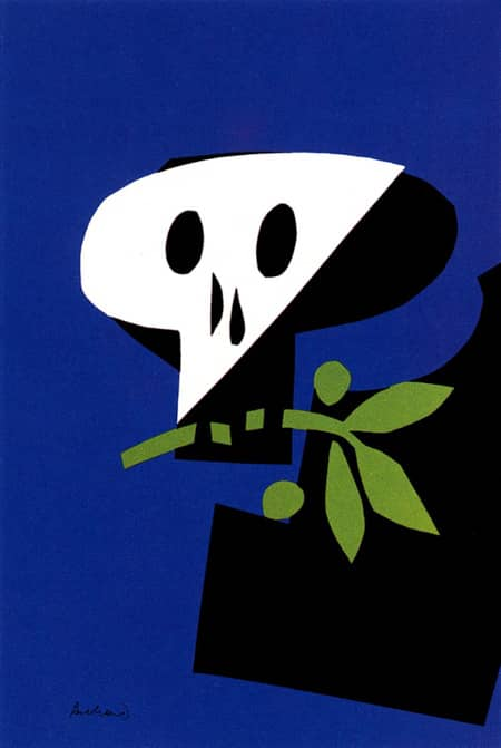1968 death mask paul rand